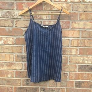 Tops - Stripped Spaghetti Striped Cami Size M